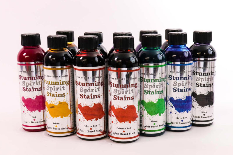 12 Shades of Spirit Based Stunning Stains