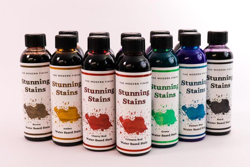 12 Shades of Water Based Stunning Stain