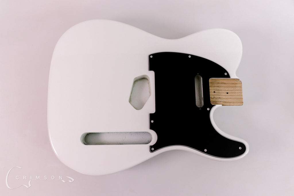 Finished Kit Guitar T-type Bright White Gloss with Pick-guard