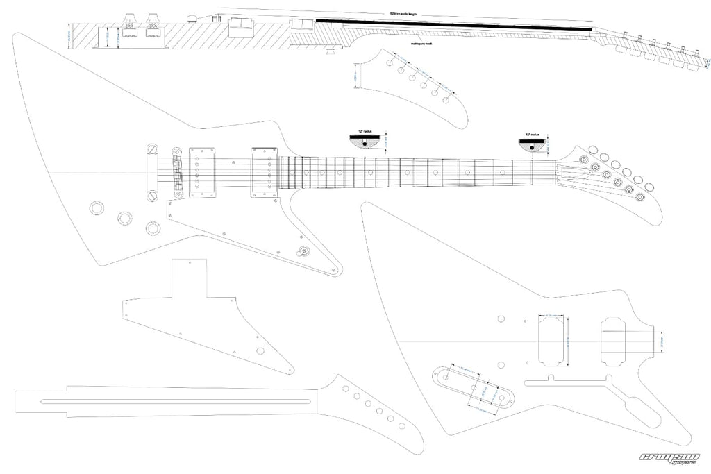 Guitar Plans - Explorer-type