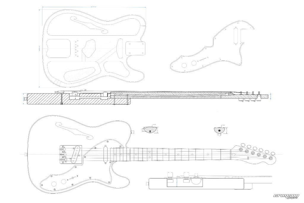 Guitar Plans - T-type 69 Thinline