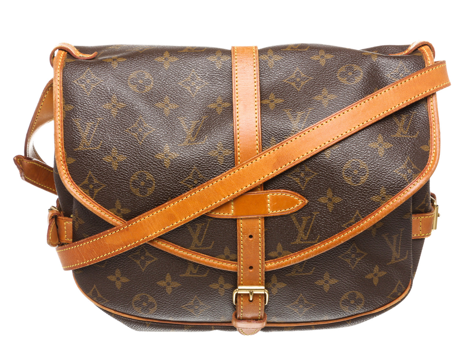 Louis Vuitton Monogram Canvas Saumur 30 Messenger Bag