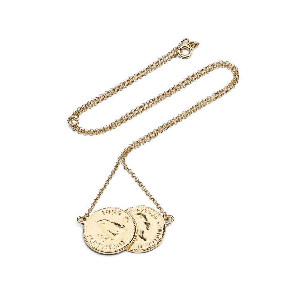 Load image into Gallery viewer, Double Farthing Necklace
