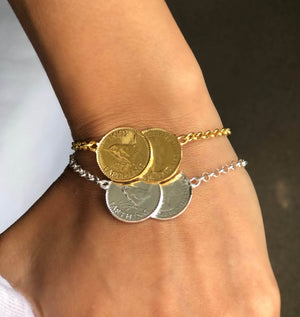 Load image into Gallery viewer, Double Farthing Bracelet