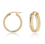 Iris Hoops 9ct Gold