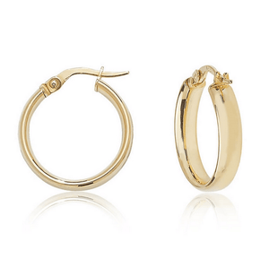 Load image into Gallery viewer, Iris Hoops 9ct Gold