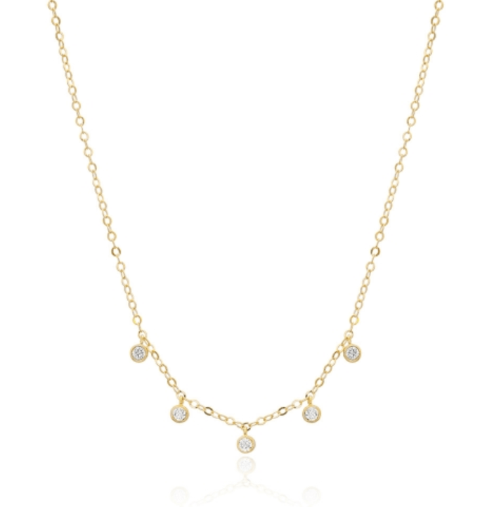 Shaker Solitaire Necklace