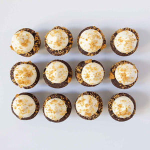 one dozen s'more cupcakes