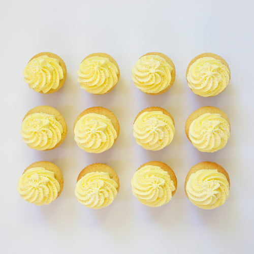 one dozen lemon cupcakes