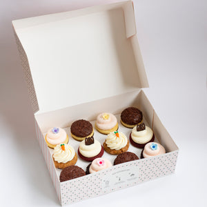 pack of 12 cupcakes: may flavors