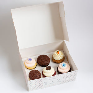 pack of 6 cupcakes: august flavors