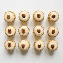 Load image into Gallery viewer, one dozen butter pecan cupcakes