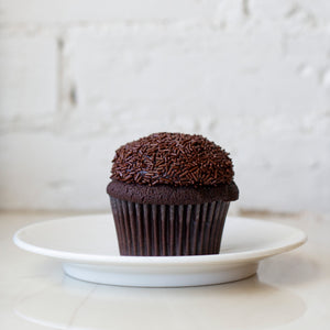 chocolate cupcake with chocolate buttercream