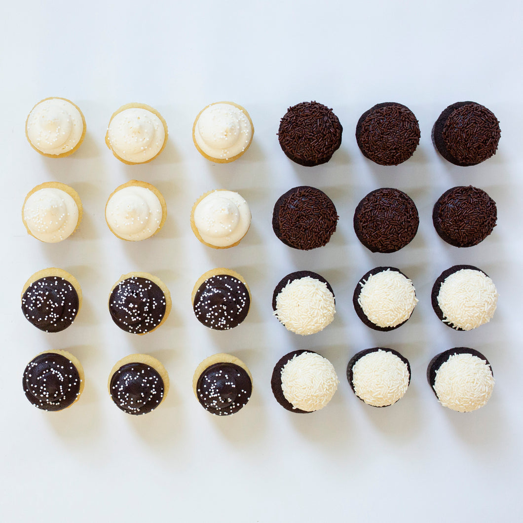 chocolate and vanilla mini assortment - 2 dozen
