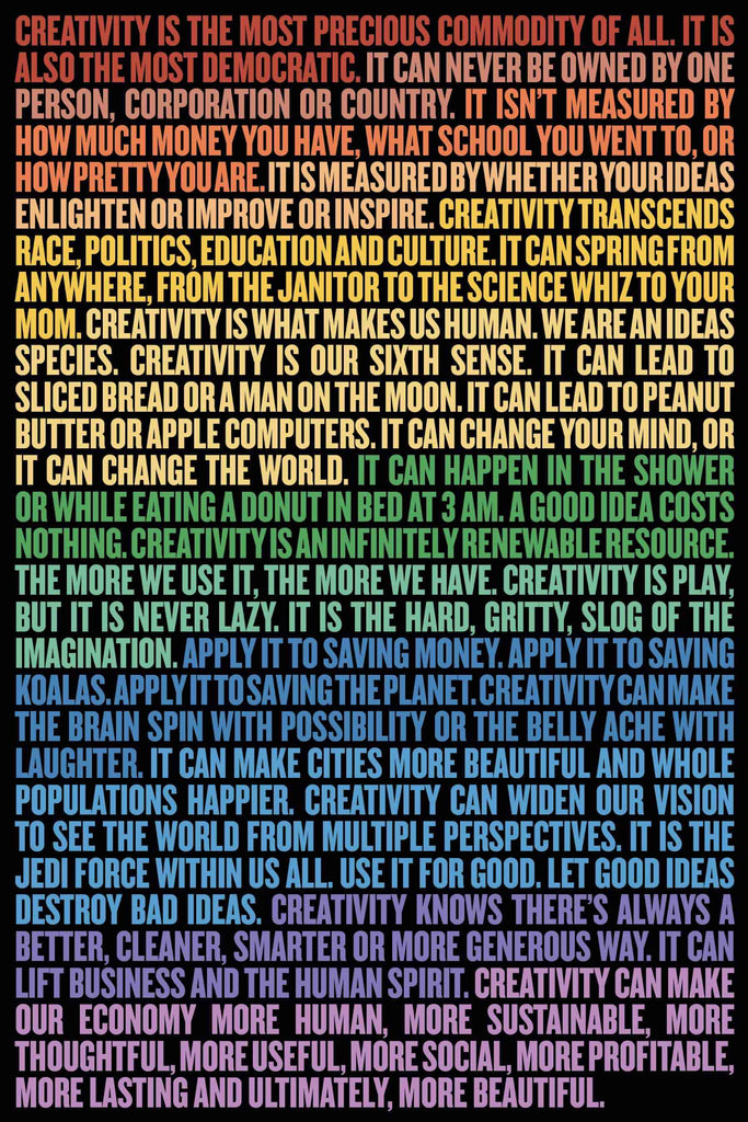 "Beautiful Economics ""Creativity for Good"" - Poster"