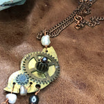 Load image into Gallery viewer, Vintage pocket watch and Pearl necklace