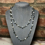 Load image into Gallery viewer, Sterling Silver Convertible Necklace with crystals, Czech Glass, and Howlite