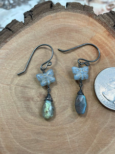 Alfy Collection Butterflies with Labradorite Briolettes