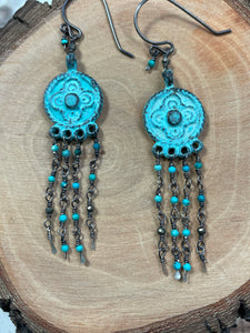 Alfy Collection Grecian Metal with Turquoise, Pyrite, and Sterling Silver