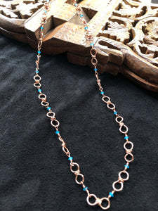 Copper and Apatite Convertible necklace