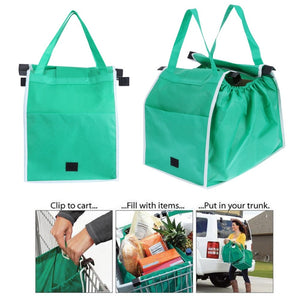 Foldable Clip-to-Cart Reusable Shopping Bag