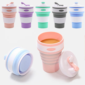 Portable Folding Silicon Travel Cup