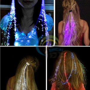 5-Pc LED Luminous Braid Clip-in Extensions