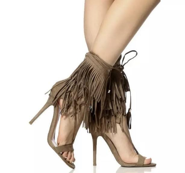 Fringe Wrap Around Heels