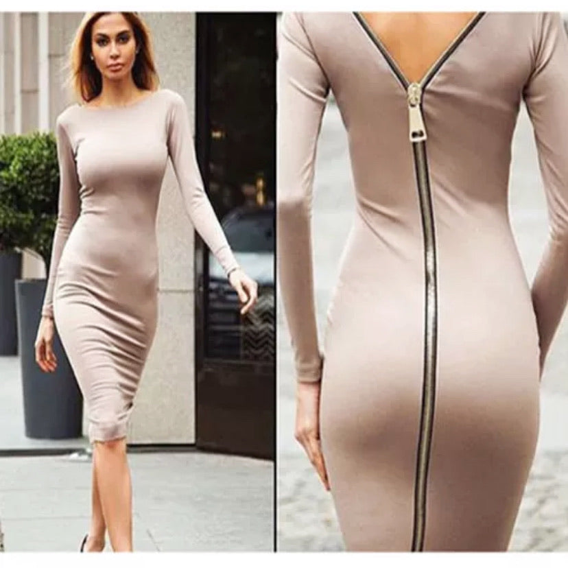 Zipper Back Dress