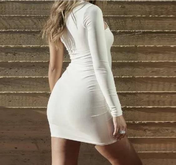 One Sleeve Cutout Dress