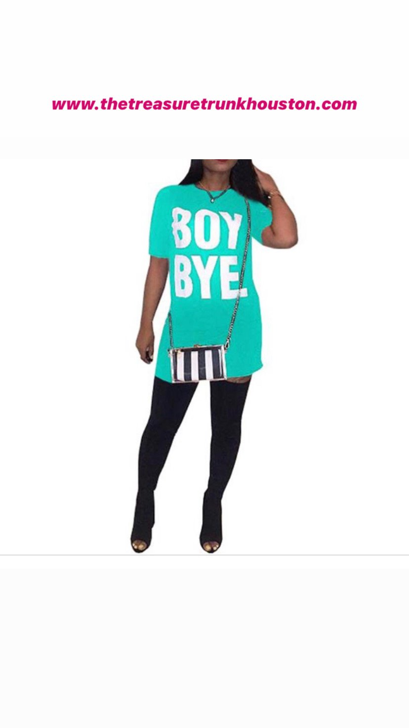 Boy Bye Shirt Dress