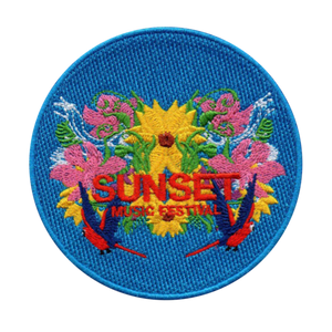 Sunset Iron On Patch