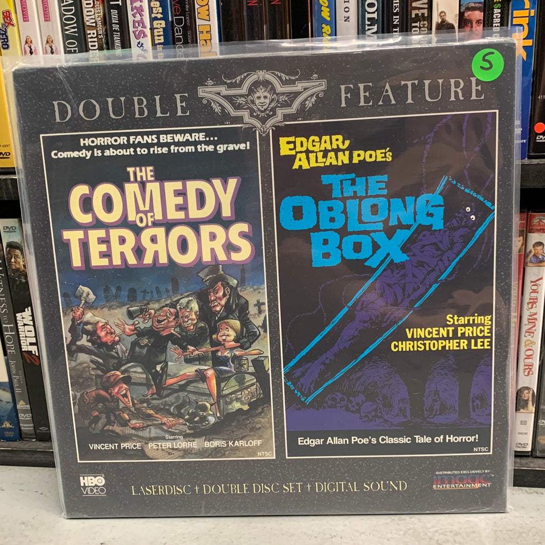 Comedy of Terrors / The Oblong Box Laserdisc