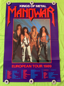 "Manowar - 1989 ""Kings of Metal"" European Tour Poster"