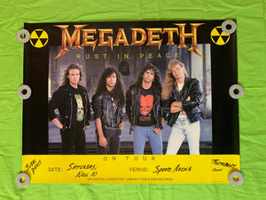 "Megadeth - 1990 ""Rust in Peace"" Tour Poster"