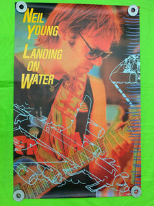 "Neil Young Poster ""Landing on Water"""