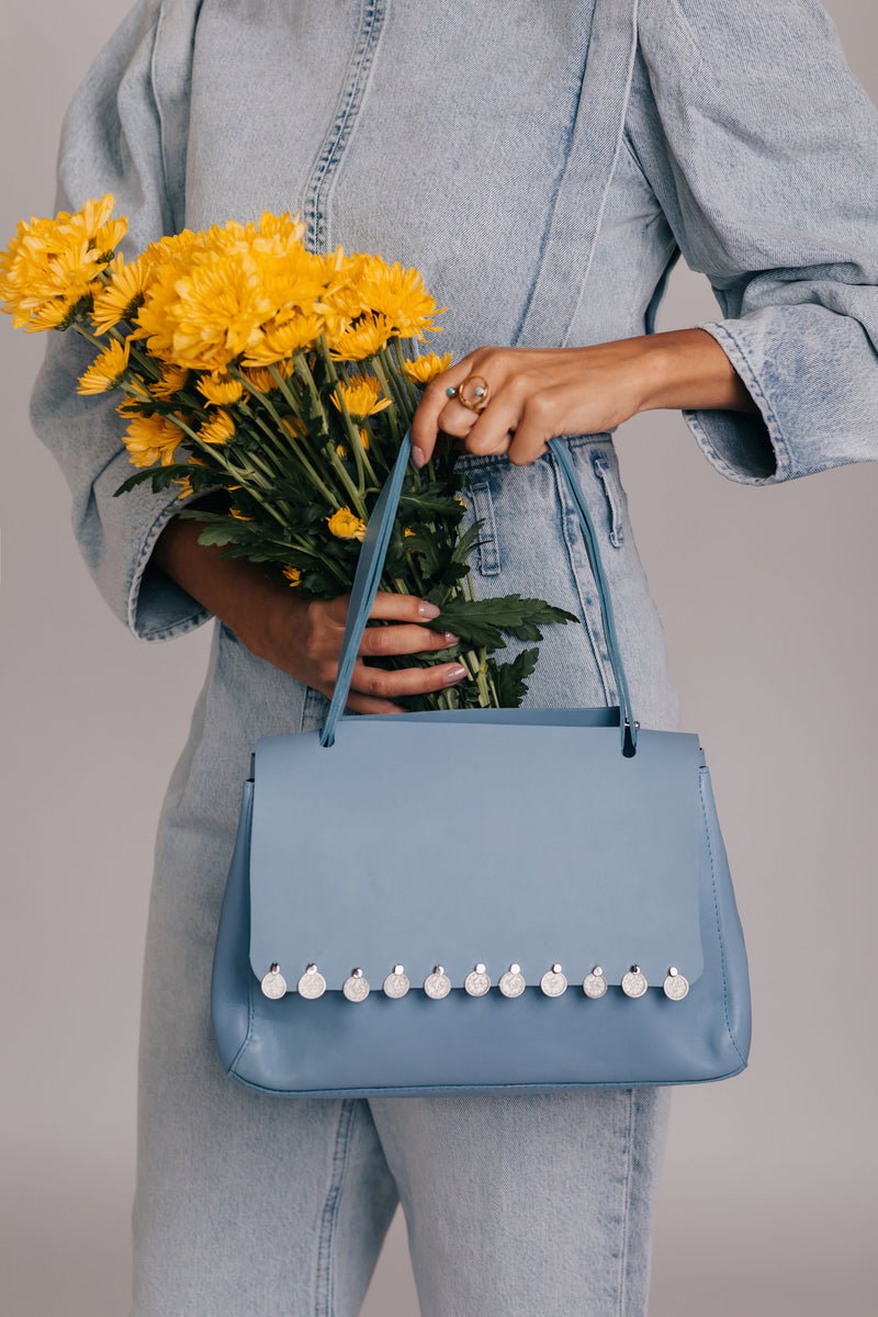 Blue Sky leather handbag