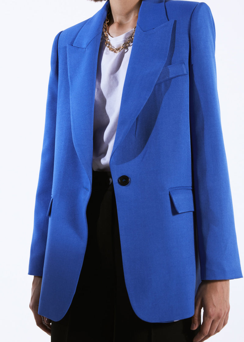 Blue Blazer With Front Button