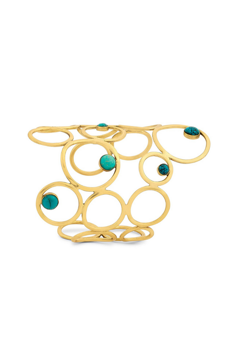 Encrusted turquoise statement cuffs Bynes New York