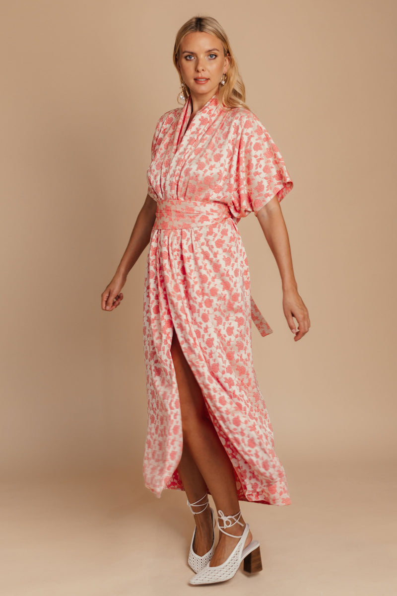 Oversized Floral Kimono Dress bynes new york