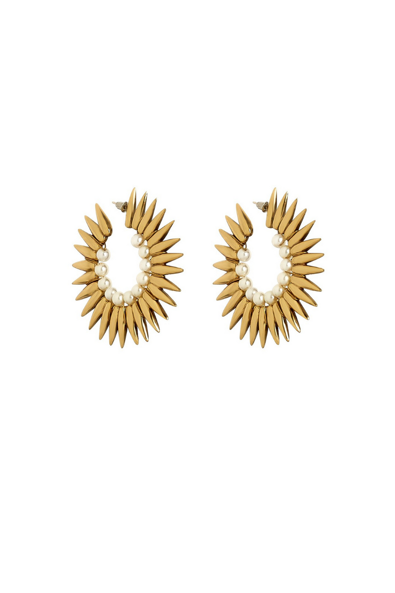 Solar Pearled Earrings Bynes New York