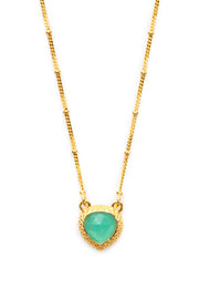 Peruvian Opal Stone Pendant Necklace 10mm