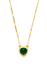 Green Onyx Miniature Pendant Necklace 10mm