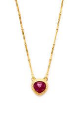 Ruby Pendant Necklace 10mm