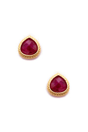 Ruby Quartz Post Earrings