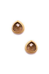 Smokey Quartz Post Earrings