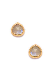 Moonstone Post Earrings