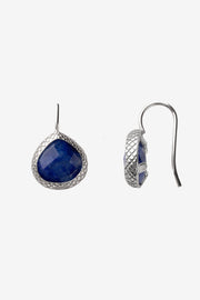 Lapis Lazuli Stone French Wire Earrings 12mm