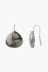 Black Rutilated Quartz Earrings 20mm