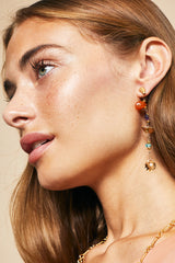 Semiprecious Stones Statement Earrings